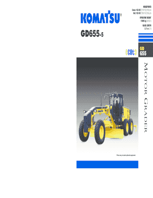 Fillable Online GD655-3 - Komatsu America Corp  Fax Email