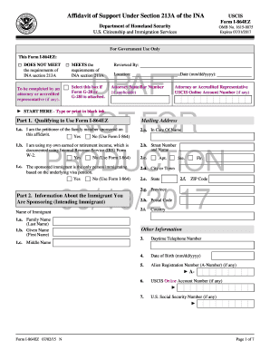 Printable I 864 In Care Of Name Fill Out Download Top