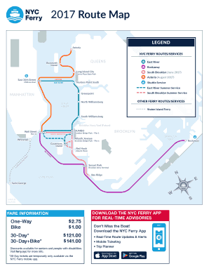 Fillable Online NYC FERRY ROUTES/SERVICES Fax Email Print
