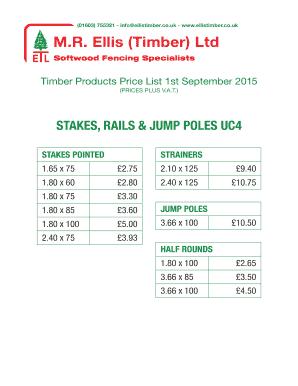 Fillable Online Ellis (Timber) Ltd Fax Email Print - PDFfiller