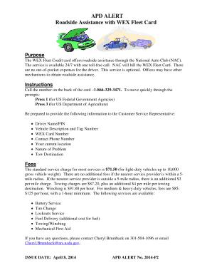 fill online - Wex Fleet Card