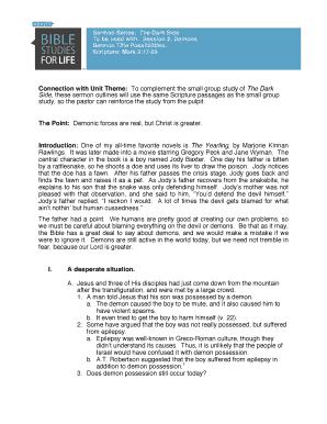 bible baptist sermon outlines pdf - Fillable & Printable