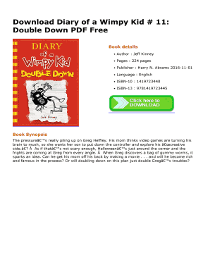 Diary of a wimpy kid double down pdf free download dino books fill diary of a wimpy kid double down pdf free download dino books solutioingenieria Gallery