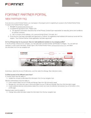 Fillable Online FORTINET PARTNER PORTAL Fax Email Print - PDFfiller