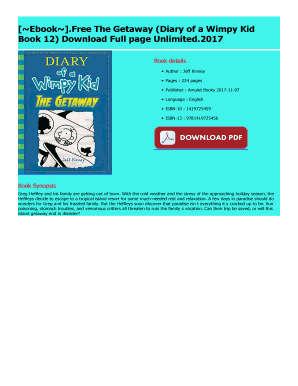 Fillable Online The Getaway Diary Of A Wimpy Kid Fax Email Print Pdffiller