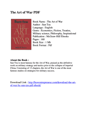Fillable Online The Art of War PDF Fax Email Print - PDFfiller
