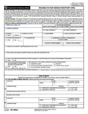2015-2017 Form VA 28-1902w Fill Online, Printable, Fillable, Blank ...