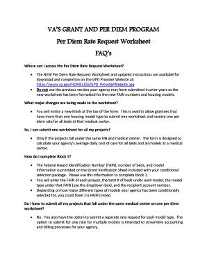 Fillable Online VAS GRANT AND PER DIEM PROGRAM Fax Email Print