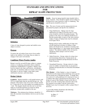 Fillable Online RIPRAP SLOPE PROTECTION Fax Email Print