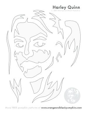 harley quinn pumpkin stencil  Harley Quinn Pumpkin Stencil - Fill Online, Printable ...