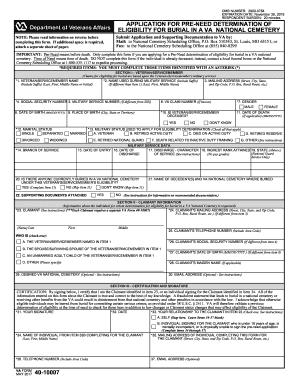 VA 40-10007 Fill Online, Printable, Fillable, Blank - us-va