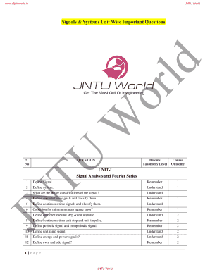 jntu transcripts online - Edit & Fill Out Online Templates, Download