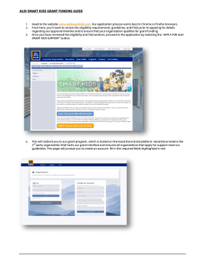 Fillable Online Aldi Smart Kids Grant Funding Guide Fax Email Print