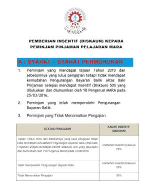 Fillable Online Maklumat Jawatan Mara Fax Email Print Pdffiller