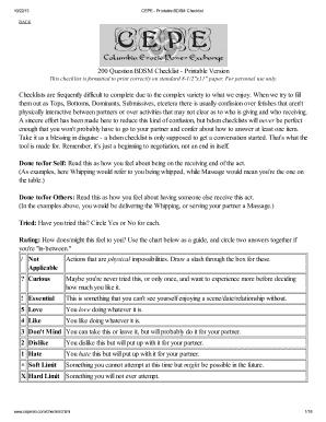 200 question bdsm check list