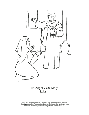 34 An Angel Visits Mary Coloring Pages