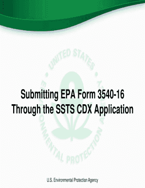 Fillable Online epa Submitting EPA Form 3540-16 Through the SSTS ...