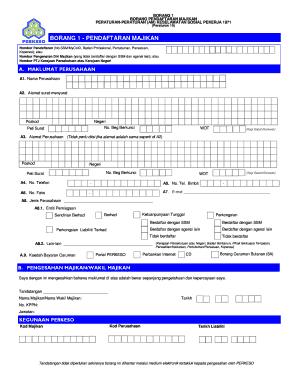 Fillable Online Penguatkuasaan Perkeso Fax Email Print Pdffiller