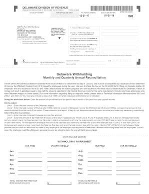 2017-2019 Form DE W-3 9801 Fill Online, Printable ...