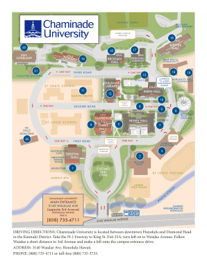 chaminade university campus map Fillable Online Driving Directions Chaminade University Is chaminade university campus map