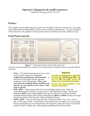 Fillable Online Operator's Manual for the mcHF transceiver