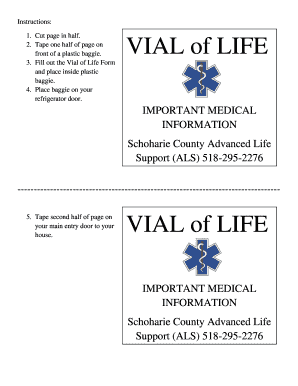 Editable Vial of life in refrigerator - Fillable & Printable ...
