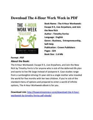 The 4hr Work Week Download