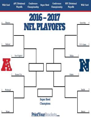 17 Printable Print Your Brackets Nfl Forms And Templates Fillable Samples In Pdf Word To Download Pdffiller