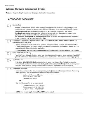 key occupational license through the colorado marijuana enforcement division.