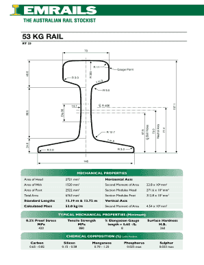 Fillable Online 53 KG RAIL Emrails - Rail, Rails, Rail
