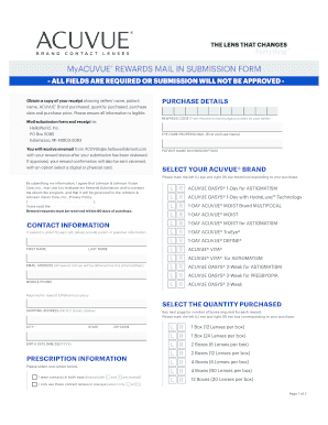 Fillable Online Rewards Central Mail In Submission Form