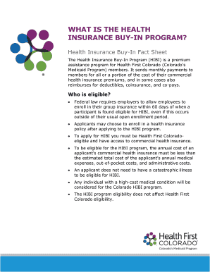 Health First Colorado Medicaid Buy In