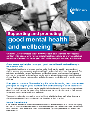 principles of support in health and social care