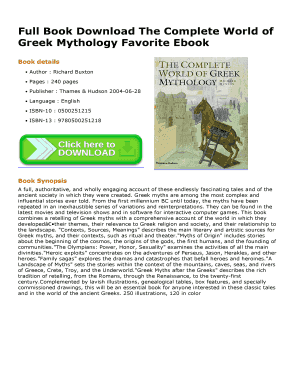 The Complete World Of Greek Mythology Epub