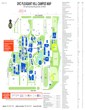 Fillable Online Dvc Dvc Pleasant Hill Campus Map Dvc Fax Email