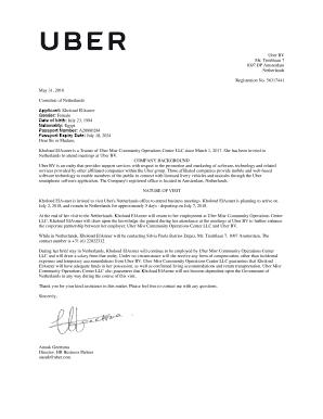 Fillable Online Uber BV Fax Email Print - PDFfiller