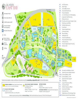 cal state east bay campus map Fillable Online Csueb Hayward Hills Campus Map Cal State East cal state east bay campus map