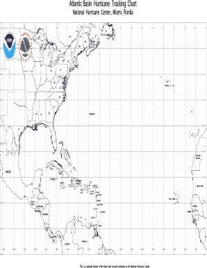 image regarding Hurricane Tracking Maps Printable called Fillable On-line Atlantic Basin Hurricane Monitoring Chart Fax