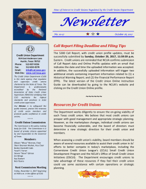 See Newsletter No. 10-17