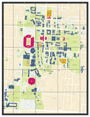 Mchs Campus Map.Fillable Online Campus Map University Of Arkansas Fax Email Print