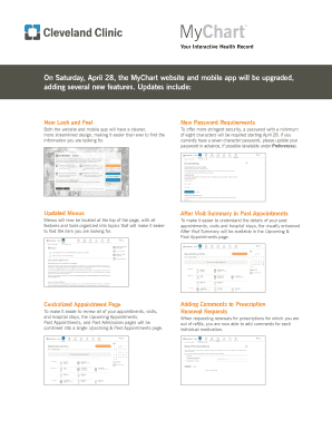 Fillable Online MyChart Cleveland Clinic Fax Email Print