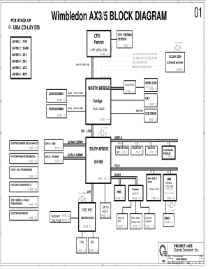 Fillable Online Quanta AX3, AX5 - Schematics. www.s-manuals.com. Fax Email  Print - PDFfiller   Wimbledon Ax3 5 Block Diagram      PDFfiller