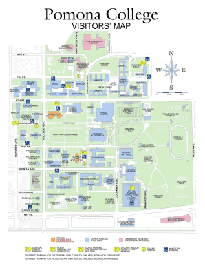 Fillable Online Pomona College Visitors Map Fax Email Print Pdffiller