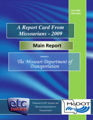 The Missouri Department of Transportation A Report Card From  - library modot mo