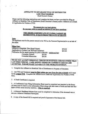 picture relating to Free Printable Small Estate Affidavit Form named Printable Low Estate Affidavit Clean York - Fill On-line