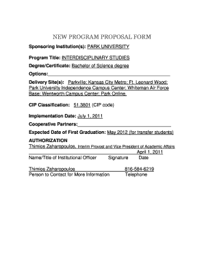 NEW PROGRAM PROPOSAL FORM - dhe mo