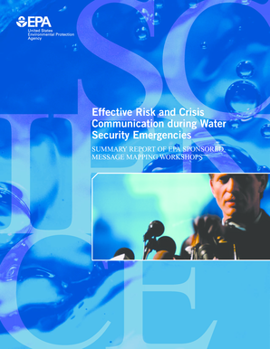 Effective Risk and Crisis Communication during Water Security Emergencies. Water Infrastructure Protection