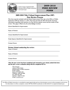 peer review forms for sip