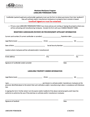Landlord Permission Letter - Fill Online, Printable, Fillable ...