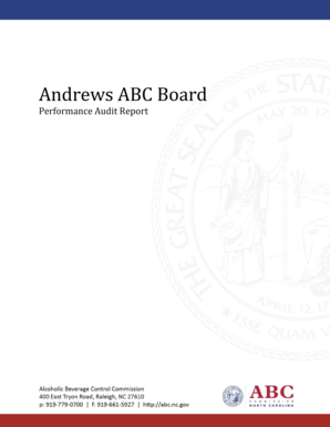Andrews ABC Board Performance Audit Report - reports abc nc